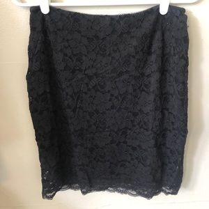 Black lace express skirt